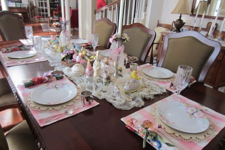 Table set with Mother's China