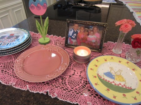 Vignette of Easter Plates