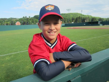 Grandson Tyler before game at Dreams Park