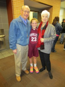 Lindsey Huebner after Basketball Game