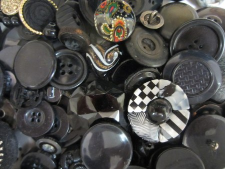 Collection of Black Buttons